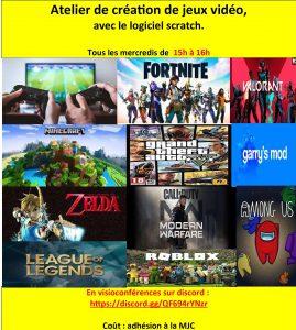 Atelier création de jeux vidéos